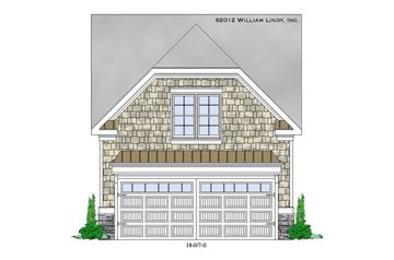 Red Oak Garage Front Elevation