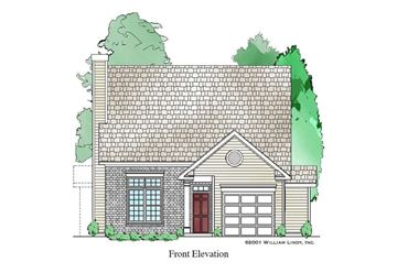 Ansley 1-Car Garage Ver Front Elevation